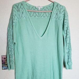Knitted sweater shirt